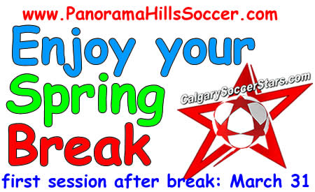 calgary soccer stars - spring break for kids
